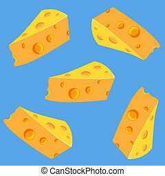 Seamless pattern with  delicious cheese