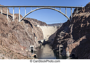 Hoover Dam Bypass Bridge Canyon View - Hoover Dam bypass...