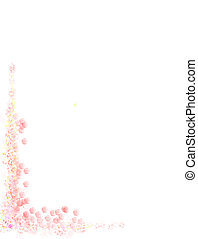 border - pinkish pastel floral border at left bottom corner