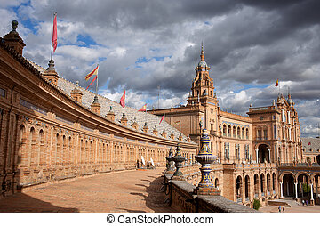 Plaza de Espana in Seville - Plaza de Espana (Spain's...