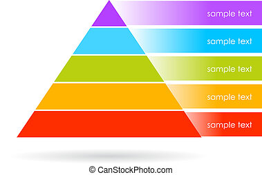 Vector pyramid graphics isolated on white