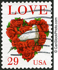 USA - CIRCA 1994: A stamp printed in USA shows word...