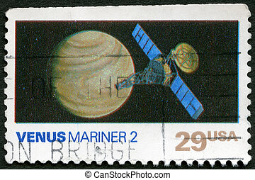 USA - 1991: shows Venus, Mariner 2, Space Exploration Series...