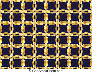 pattern with golden interwoven orna - abstract seamless...