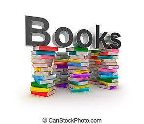 Libros, pilas