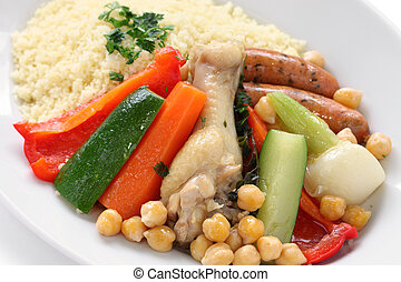 couscous with vegetables and meats