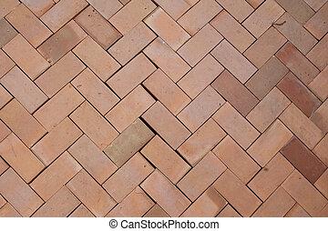 red brick herringbone background texture