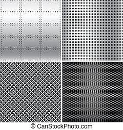 Silver Metal Textures
