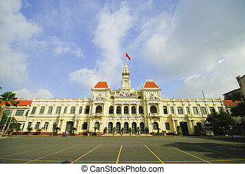 The City Hall of Ho Chi Minh City in Saigon, Vietnam
