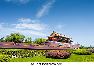 tiananmen square - Tiananmen Square, Beijing China - Gate of...