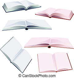 set of open books