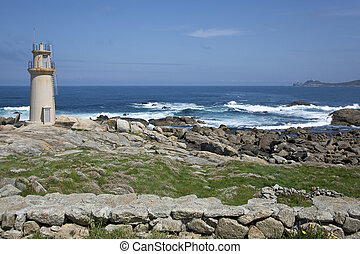 Lighthouse of Muxia, Costa da morte, La Corua, Galicia,...