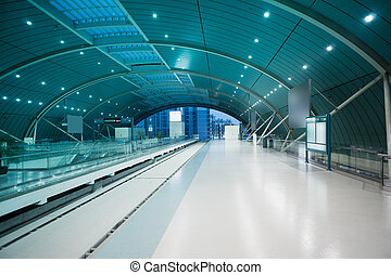 maglev train station - the hall of maglev train station