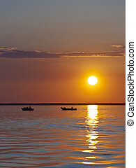 Fishing Boats at sunset - Fishing Boats on a northern...