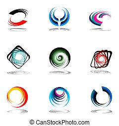 Design elements set Vector art