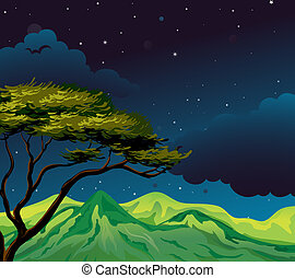 A starry evening - Illustration of a starry evening