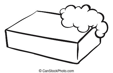A bar of soap - Illustration of a bar of soap on a white...