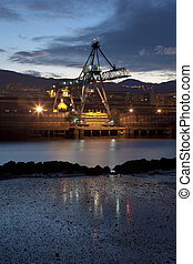 Crane in Sestao, Bizkaia, Basque Country, Spain