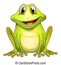 a, Lächeln, Frosch