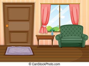 Furnitures inside the house - Illustration of furnitures...