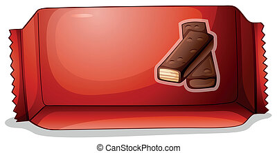A pack of chocolate - Illustration of a pack of chocolate on...