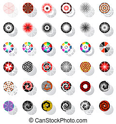 Design elements set. - Design elements with rotation. Vector...