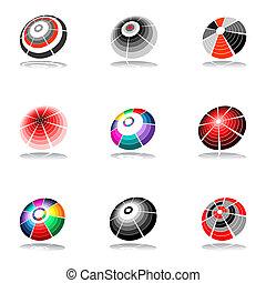 Design elements set. Vector art.
