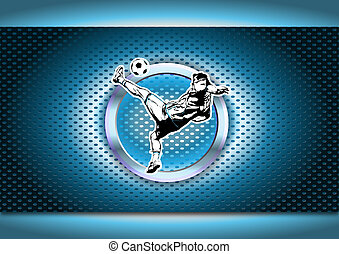 soccer background - chrome soccer background