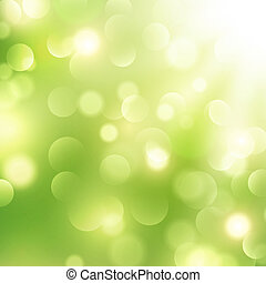 Good Morning - Abstract Green Sunny Good Mood Spring...