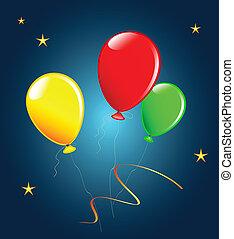 Holiday balloons.