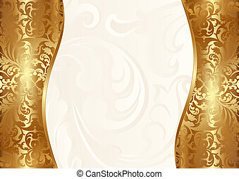 glamour background creamy and gold