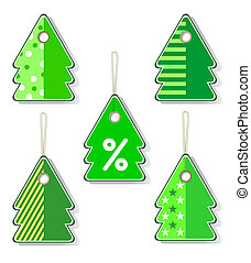 Xmas tags. Vector art.