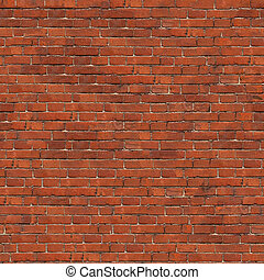Background of Brick Wall Texture - Dark Red Brick Wall...