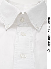Close-up of a white dress shirt