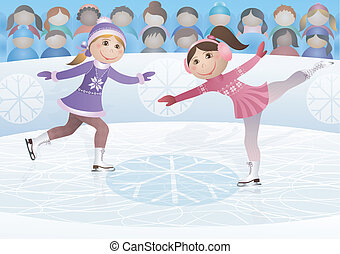 Figure skating - Illustration of sports competitions on...