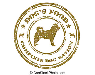 Dogs food stamp - Grunge rubber stamp with text dogs food...