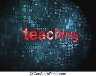 Education concept: Teaching on digital background -...