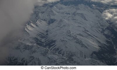 Flight Over Mountains (Alps)