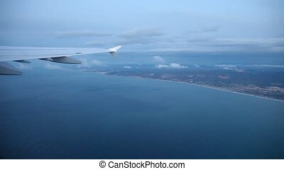 Coastline Aerial near Barcelona - Flight Over The Coastline...