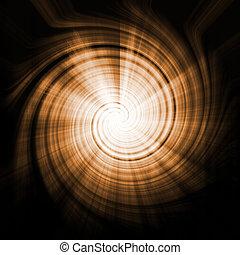 Alien Abstract Vortex Background Texture in Orange Swirls