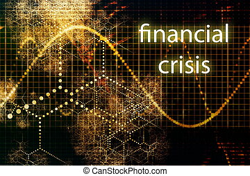 Financial Crisis Business Concept Wallpaper Presentation...