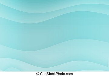 Blue Soothing Calming Curves