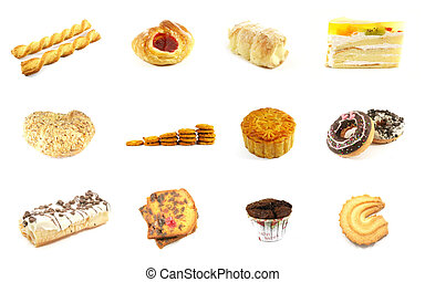 Baked Goods Series 5 Isolated on a White Background