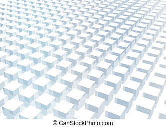 Simple and Clean Block 3d Abstract Background in Blue