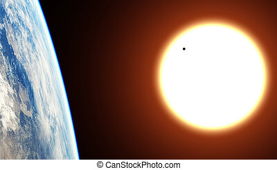 Transit of Planet Venus across the Sun