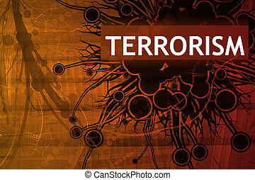 Terrorism Abstract Background in Red Tech Theme