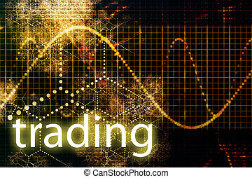 Trading Abstract Business Concept Wallpaper Presentation...