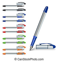 writing pen with color variations