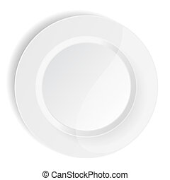 porcelain plate on white background