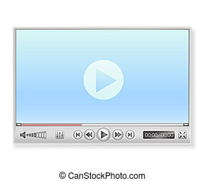 media player in light colors